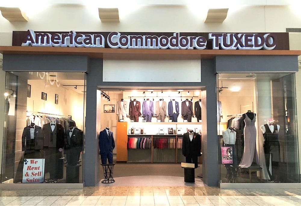 American Commodore Tuxedo storefront in our SouthPark Center location