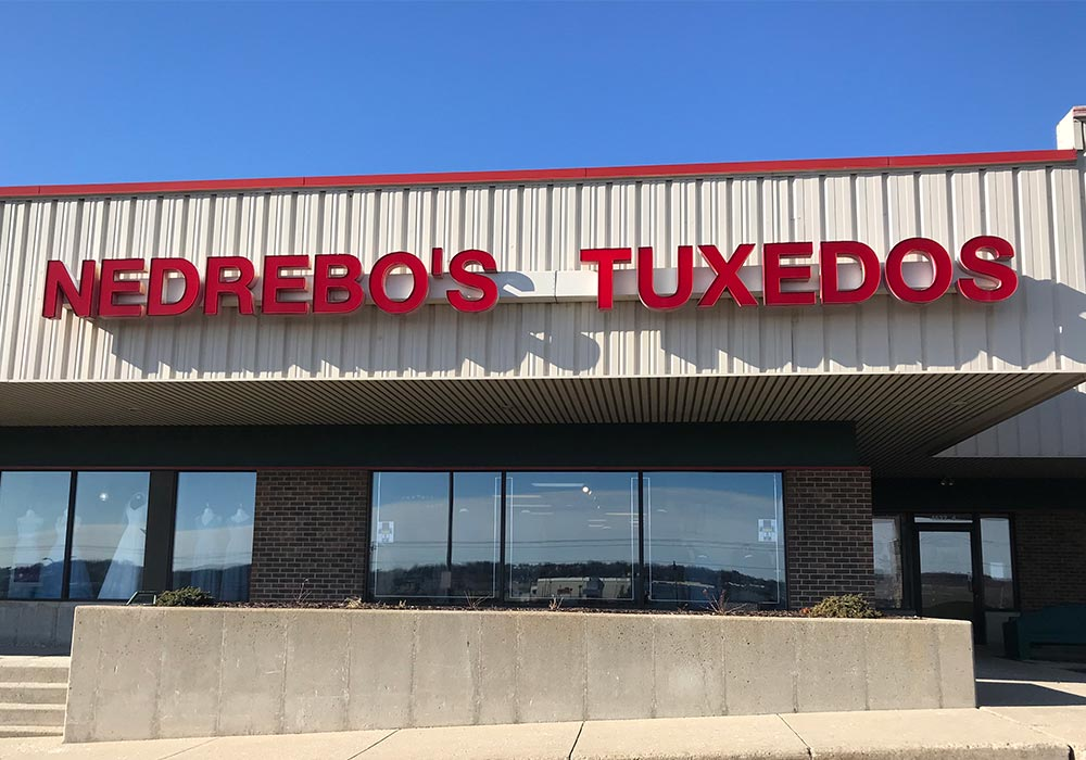 Nedrebo's Tuxedo storefront in our Madison East location