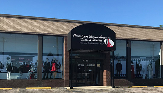 American Commodore Tuxedo storefront in our South Euclid location in Ohio