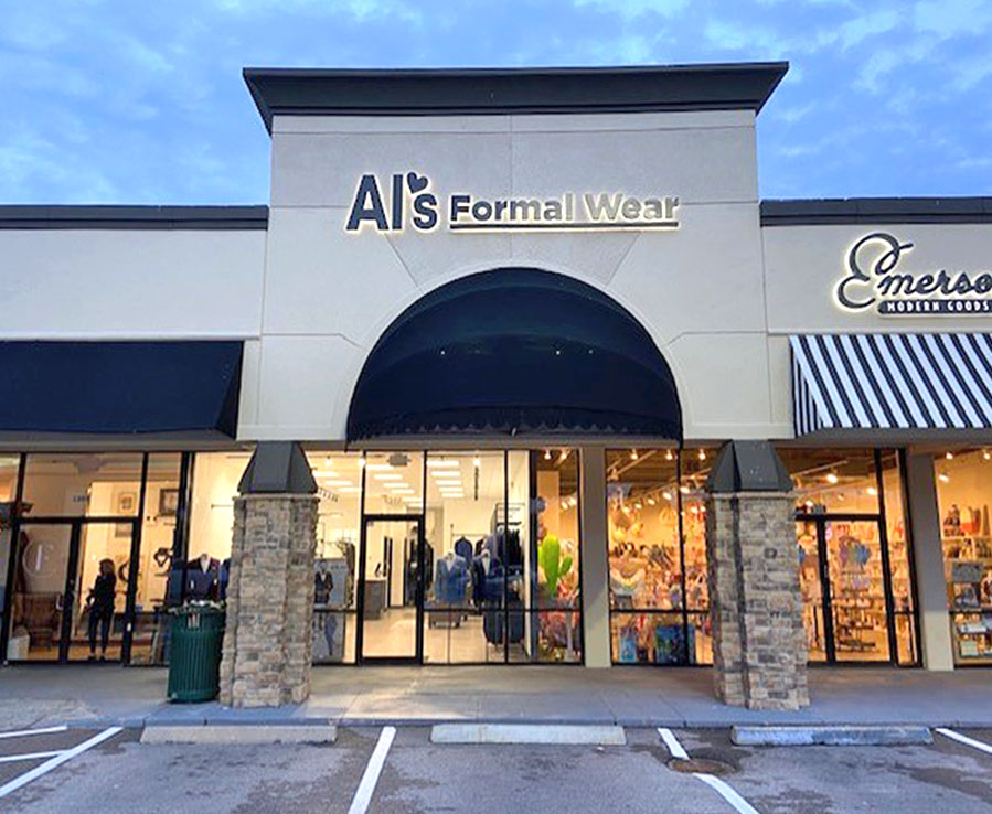 Al's Formal Wear storefront in our Woodway location