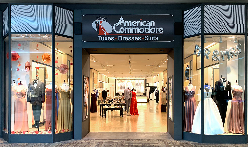 American Commodore Tuxedo storefront in our Southern Park Mall location