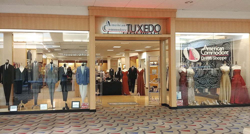 American Commodore Tuxedo storefront in our Findlay Village Mall location