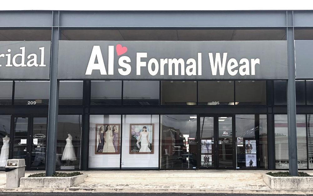 Al's Formal Wear storefront in our North Star location in San Antonio, Texas