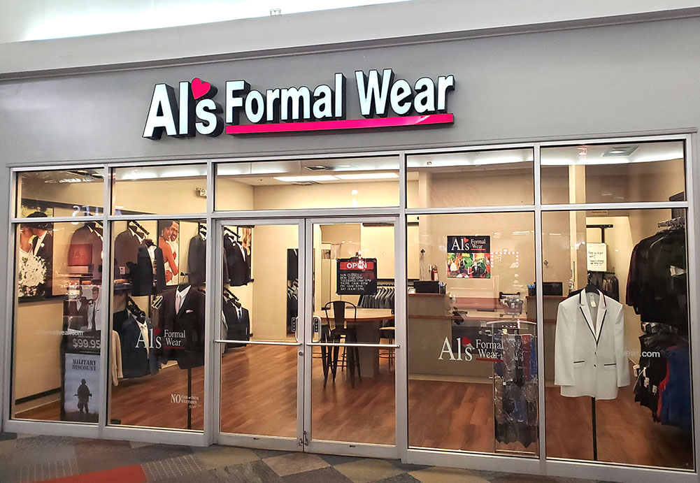 Al's Formal Wear storefront in our Odessa location