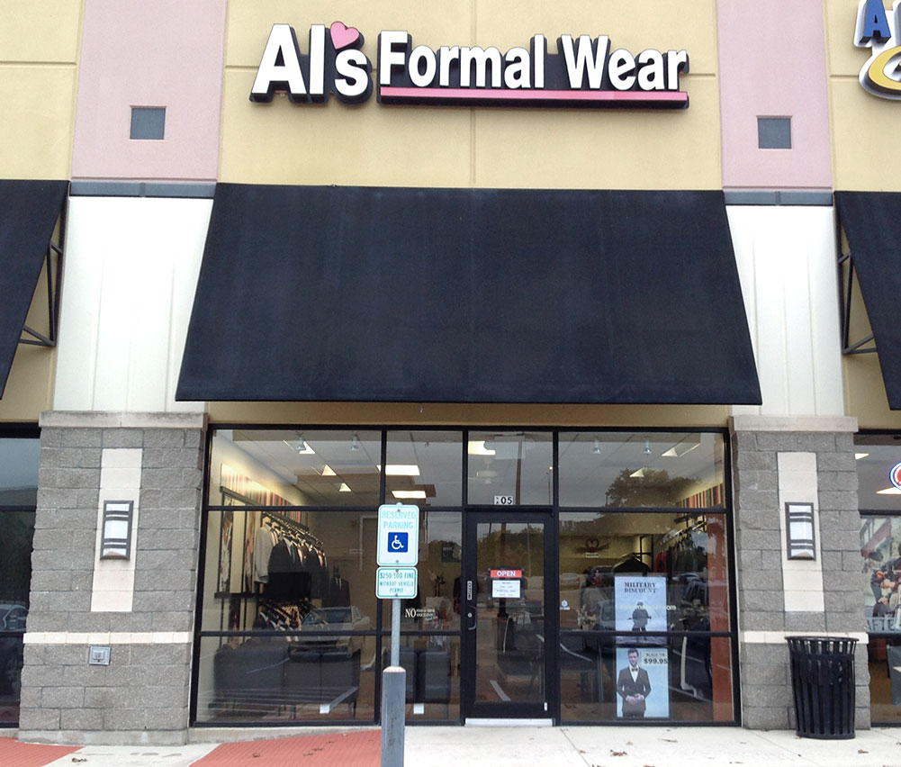 Al's Formal Wear storefront in our Ingram Heights location