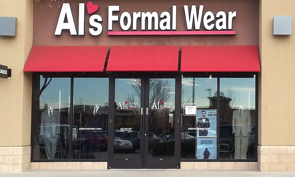 Al's Formal Wear store front at Centerra , Colorado