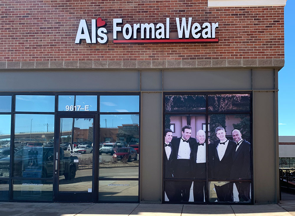 Al's Formal Wear store front in Centennial Promenade