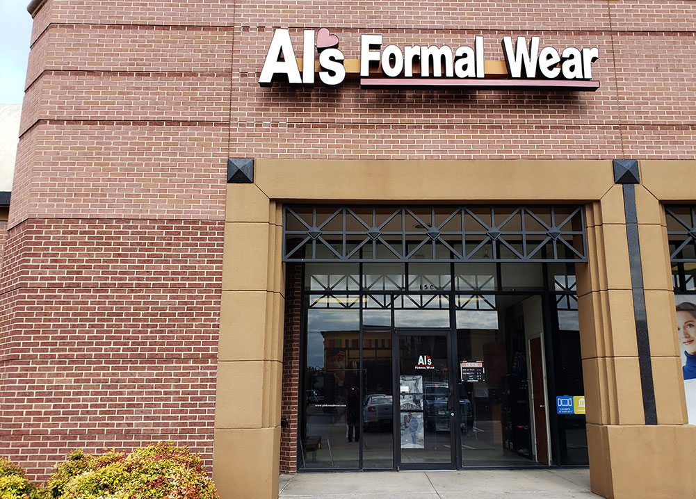 Al's Formal Wear storefront in our Mesquite location