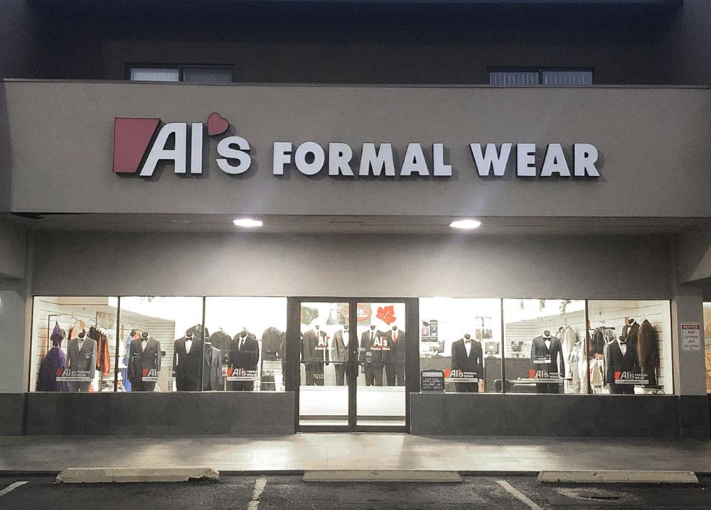 Al's Formal Wear storefront in our McAllen location