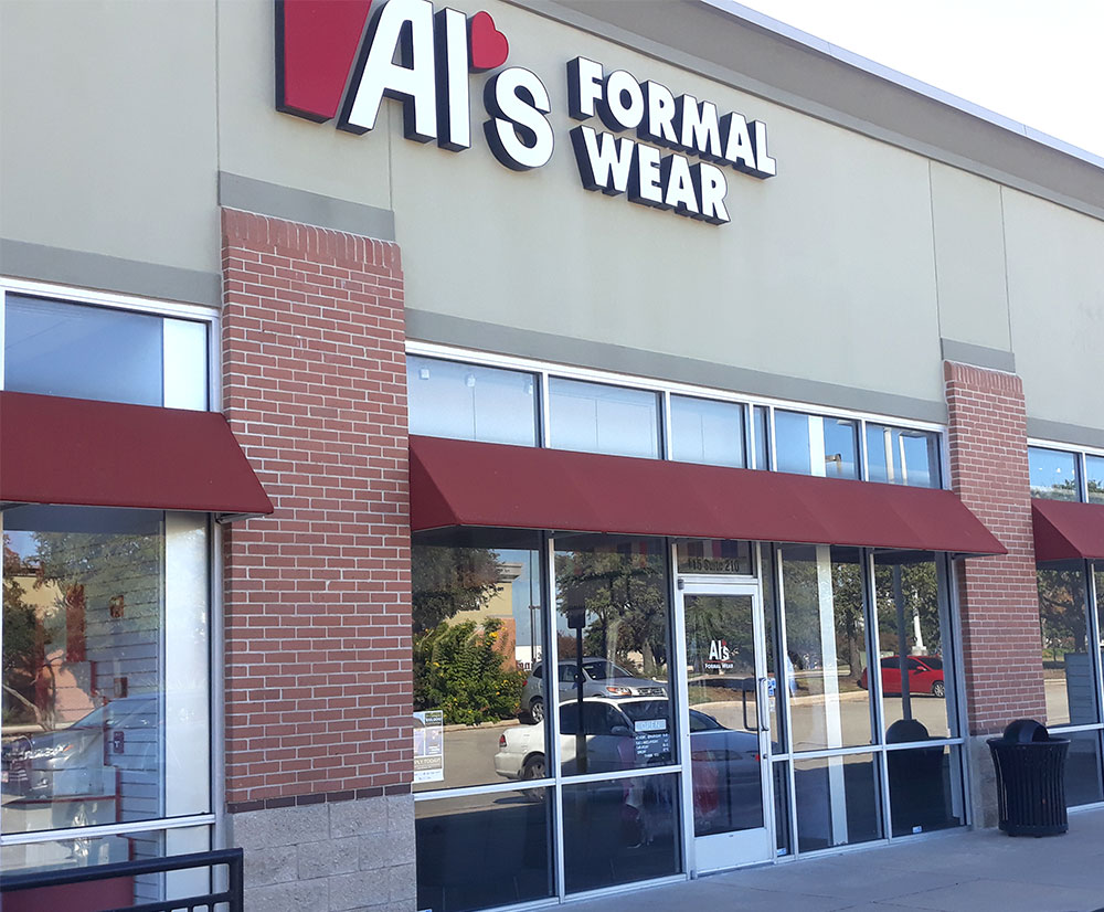 Al's Formal Wear storefront in our Round Rock location
