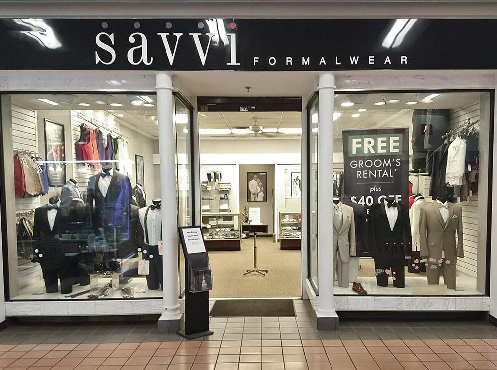 Savvi Formalwear store front in the Greenbriar Mall in Georgia