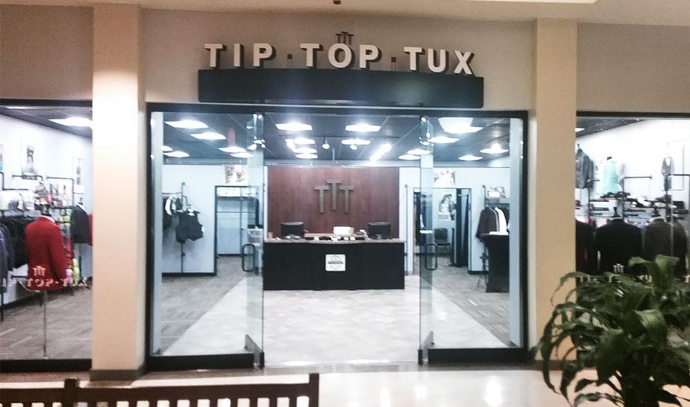 Tip Top Tux storefront in our Fargo location in North Dakota