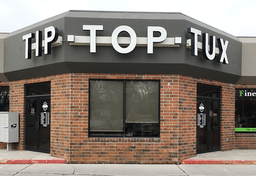 Tip Top Tux storefront in our Grand Forks location in North Dakota